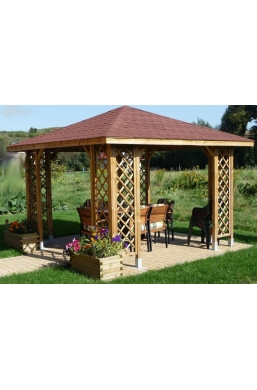 ANIA Wooden Gazebo 10ft x 10ft / 3m x 3m Posts 90x90