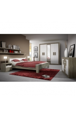 FURNITURE SET 'MEDIOLAN' SONOMA OAK TRUFFLE AND WHITE MATT
