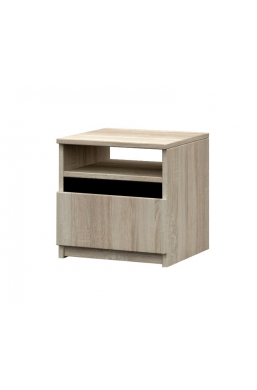 BEDSIDE TABLE 'MEDIOLAN' SONOMA OAK AND BLACK MATT