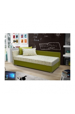 199cm SOFA 'AGATA' GREEN WITH DECORATIVE PILLOWS
