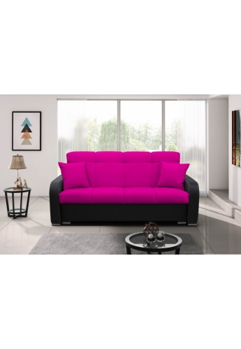 MODERN 214cm SOFA \'PURPLE\' GRAY BLACK PVC LEATHER