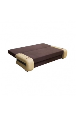 205cm SOFA 'GLORIA' BROWN WITH BEIGE SIDES