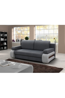 205cm SOFA 'GLORIA' GREY WITH LIGHT GREY SIDES