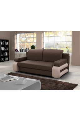 205cm SOFA 'GLORIA' LIGHT BROWN WITH BEIGE SIDES