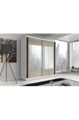 183cm 2 SLIDING DOOR WARDROBE F07 WHITE SIDES