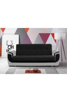 237cm SOFA 'DELUX' BLACK WITH GRAY SIDES