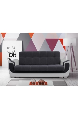 237cm SOFA 'DELUX' DARK GRAY WITH LIGHT GRAY SIDES