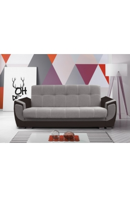 237cm SOFA 'DELUX' LIGHT BROWN WITH DARK BROWN SIDES