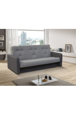 202cm SOFA 'KASIA' LIGHT GRAY WITH DARK GRAY SIDES