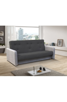 202cm SOFA 'KASIA' DARK GRAY WITH LIGHT GRAY SIDES