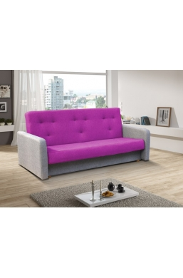 202cm SOFA 'KASIA' PURPLE WITH LIGHT GRAY SIDES