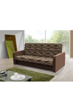 202cm SOFA 'KASIA' FANCY PATTERN WITH BROWN SIDES