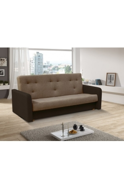 202cm SOFA 'KASIA' LIGHT BROWN WITH DARK BROWN SIDES