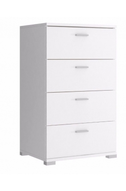 50cm CHEST OF DRAWERS - WHITE
