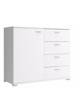 100cm CHEST OF DRAWERS - WHITE