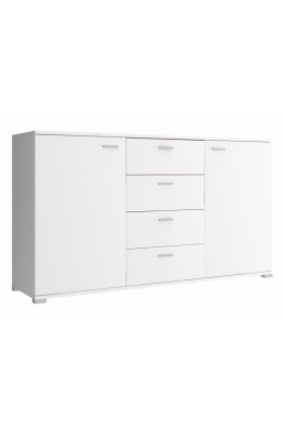 150cm CHEST OF DRAWERS - WHITE