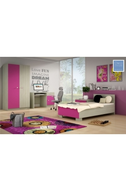 SET OF FURNITURE 'DOMINO' PINK