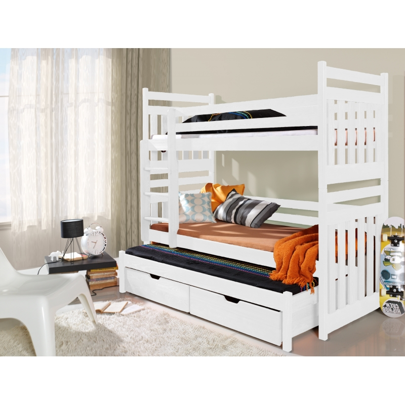 Brand New Triple Bunk Bed Sambor With Pull Out Bed And Drawers