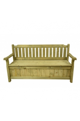165 x 60 Wooden garden 3 seater bench witch storage chest underneath