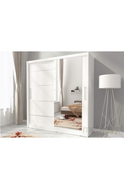 180cm SLIDING DOOR WARDROBE WHITE MAJA I ALU