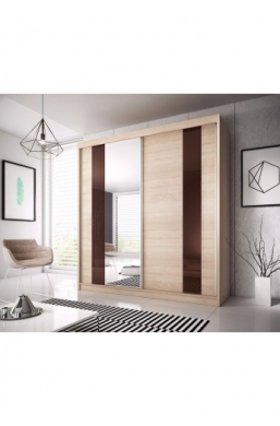 203cm 2 SLIDING DOOR WARDROBE F37 SONOMA SIDES 'MULTI'