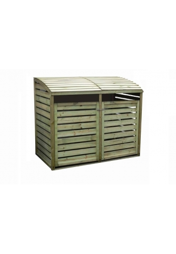 Wooden Wheelie Bin Storage - Double