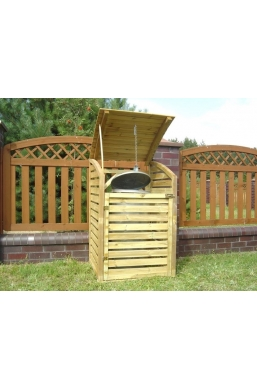 Wooden Wheelie Bin Storage - Single