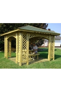 Natalia Wooden Gazebo 10ft x 10ft / 3m x 3m