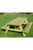 Garden Wooden Picnic Table with Benches