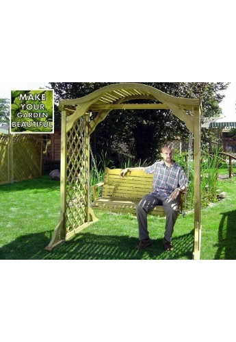 Garden Wooden Swing Seat 'Holiday'
