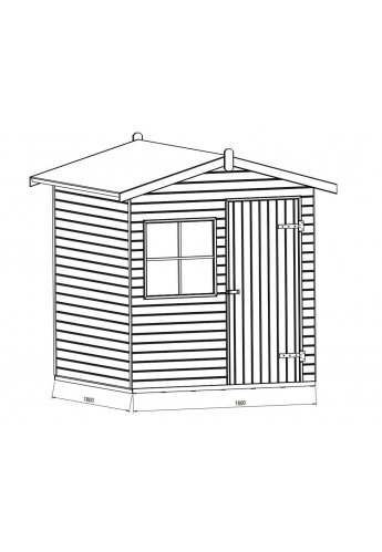 Sturdy and Practical Garden Shed