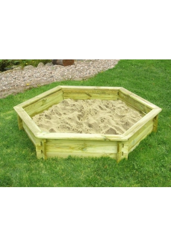 Garden Wooden Hexagonal Pine Sandpit for Kids