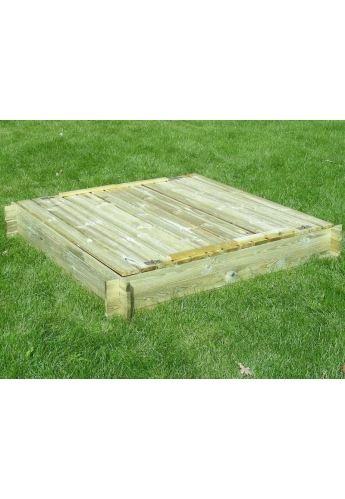 Garden Wooden Sandpit for Kids with Lids (120cmx120xm)