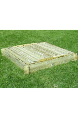 Garden Wooden Sandpit for Kids with Lids (150cmx150xm)