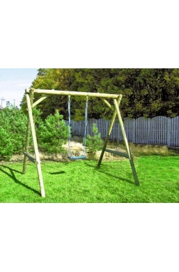 Garden Wooden Play Area for Kids - Swing 'Alicja'