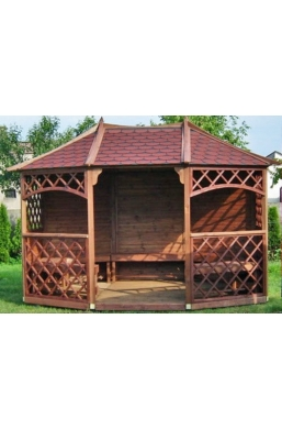 Wooden Gazebo 11ft6 x 8ft6 / 3.5m x 2.6m