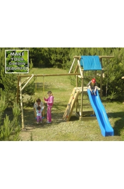 Garden Wooden Swing Seat with Slide 'Alex'