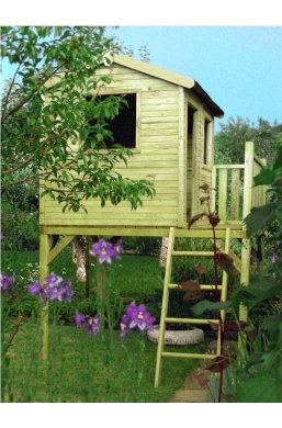 Playhouse on stilts