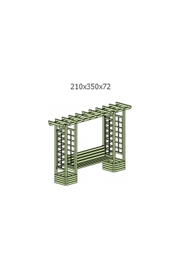 Pergola combined with bench without arch