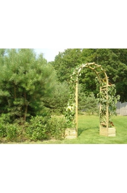 Arch with planter