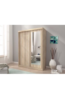 SLIDING DOOR WARDROBE 150cm ALASKA SONOMA OAK