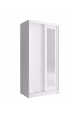 SLIDING DOOR WARDROBE 100cm ALASKA WHITE