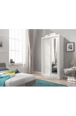 100cm 2 SLIDING DOOR WARDROBE ALASKA WHITE