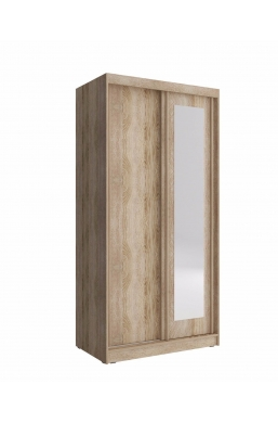 SLIDING DOOR WARDROBE 100cm ALASKA SONOMA OAK