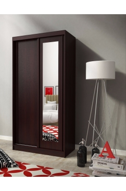 SLIDING DOOR WARDROBE 100cm ALASKA CHOCOLATE