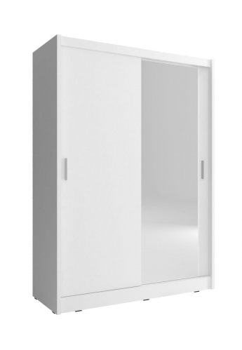 NEW SLIDING DOOR WARDROBE 130cm MAJA WHITE