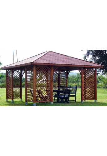 Romantica Wooden Gazebo 13ft x 13ft / 4m x 4m