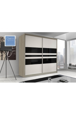 203cm SLIDING DOOR WARDROBE 'MULTI' FRONT 01 SONOMA OAK