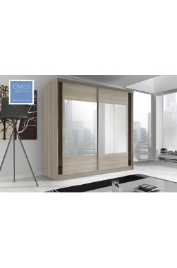 203cm SLIDING DOOR WARDROBE 'MULTI' FRONT 07 SONOMA OAK