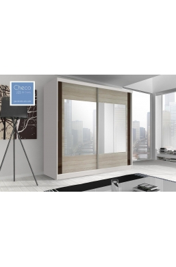 203cm SLIDING DOOR WARDROBE 'MULTI' FRONT 07 WHITE
